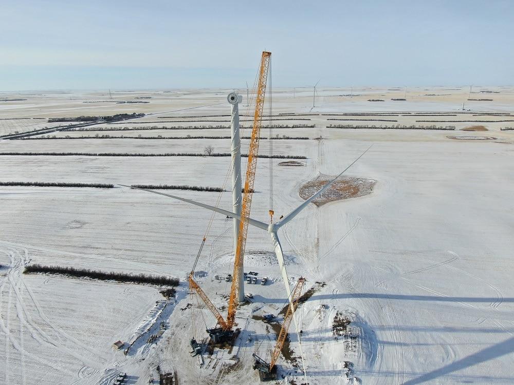 Sarens установил 50 ветрогенераторов в Канаде